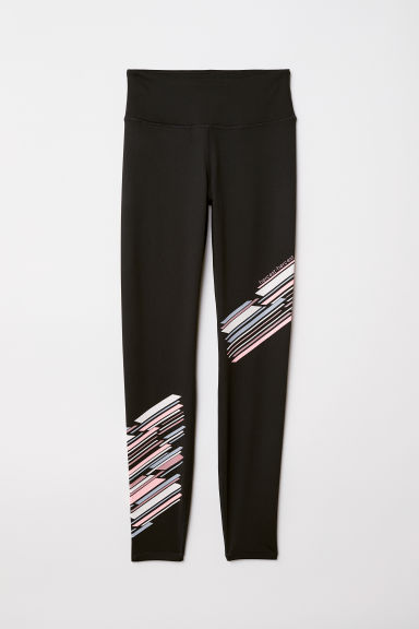 Sports tights - Black/Stripes - Ladies | H&M IE