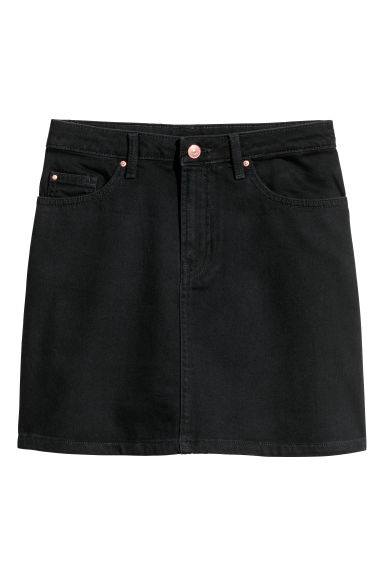 Denim skirt - Black - Ladies | H&M CN