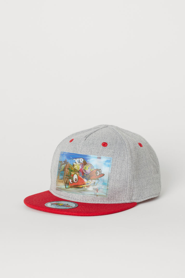 Cap with an appliqué - Grey/Lenticular print - Kids | H&M GB