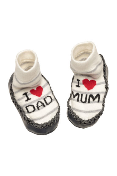 Moccasins - White/I Love - Kids | H&M