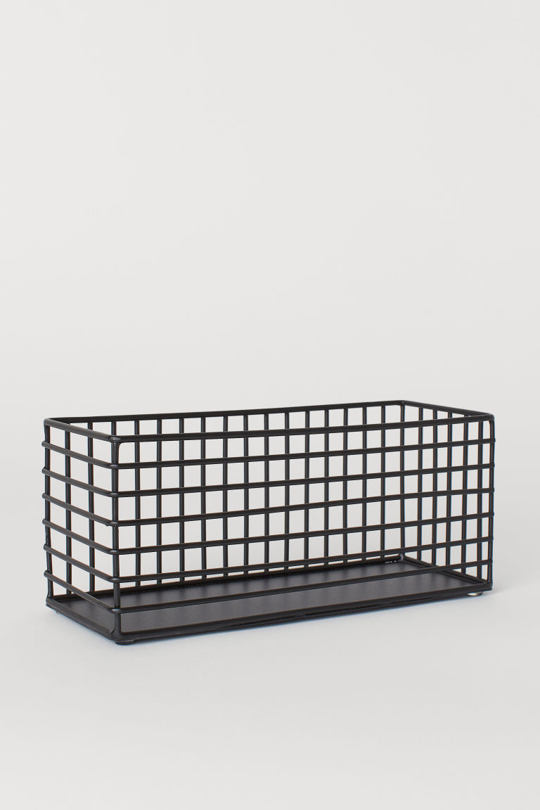 Metal Wire Basket - Black - Home All | H&M US