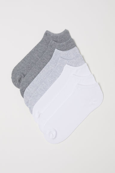 7-pack liner socks - Grey/White - Men | H&M
