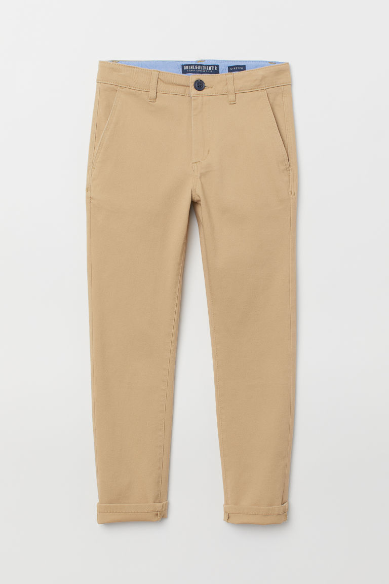 Skinny Fit Chinos - Beige - BARN | H&M NO