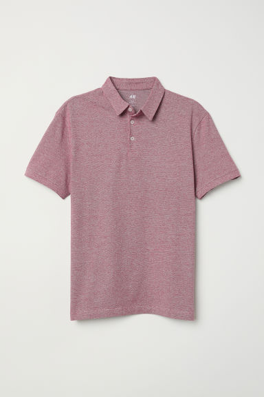 Polo Slim fit - Rojo jaspeado oscuro - Men | H&M MX