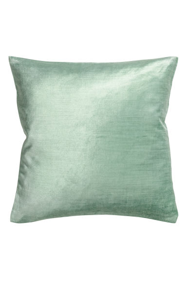 Velvet cushion cover - Light green -  | H&M GB