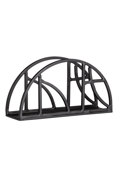 Metal napkin holder - Black -  | H&M GB