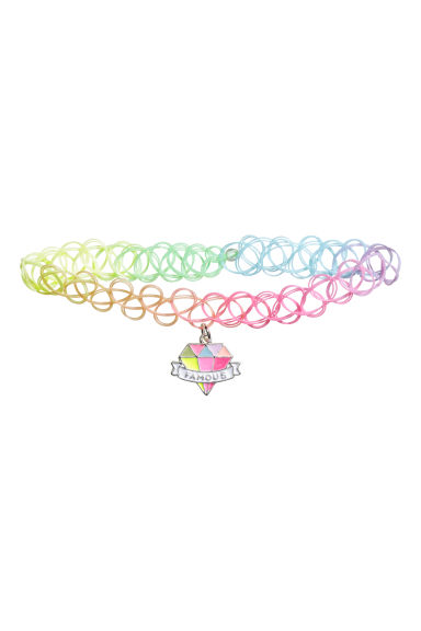 Elasticated choker - Pink/Multicoloured - Kids | H&M CN