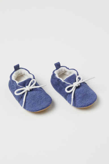 Soft slippers - Dark blue marl - Kids | H&M