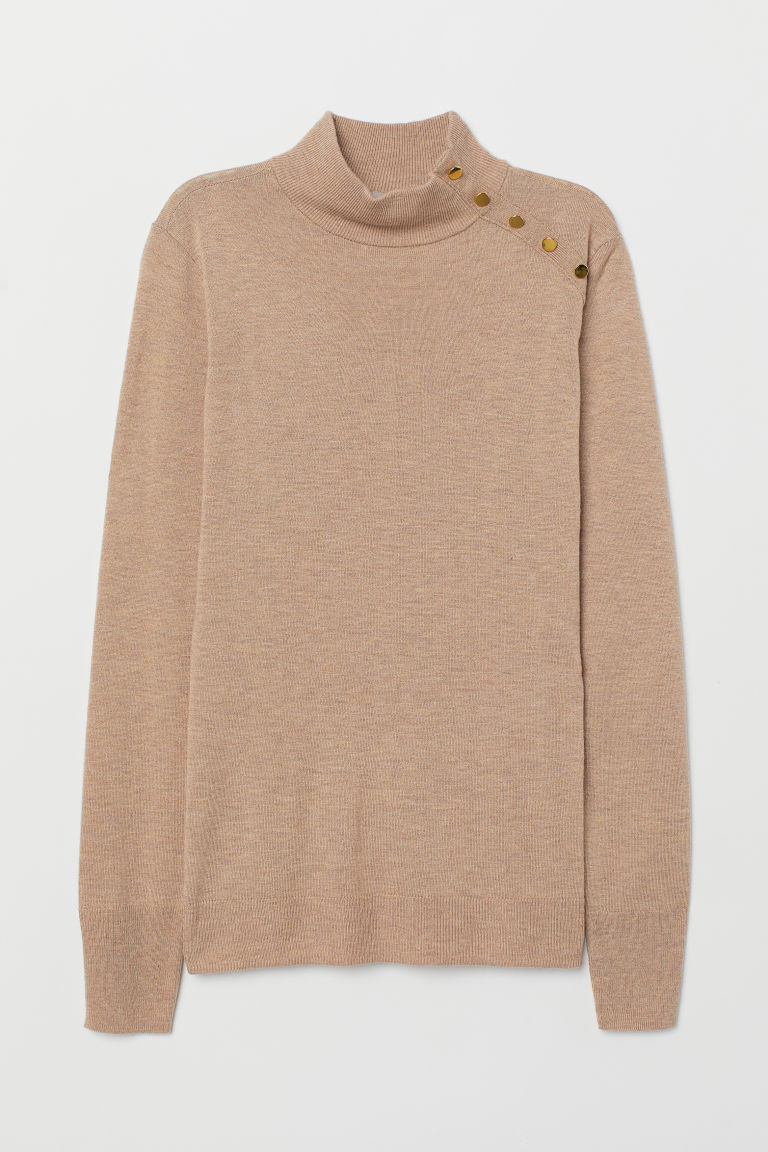 Fine-knit jumper - Beige - Ladies | H&M