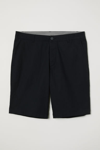 Knee-length cotton shorts - Black -  | H&M