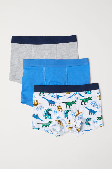 3-pack boxer shorts - Blue/Dinosaurs - Kids | H&M