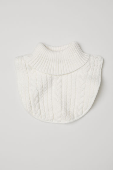 Cable-knit polo-neck collar - White - Kids | H&M CN
