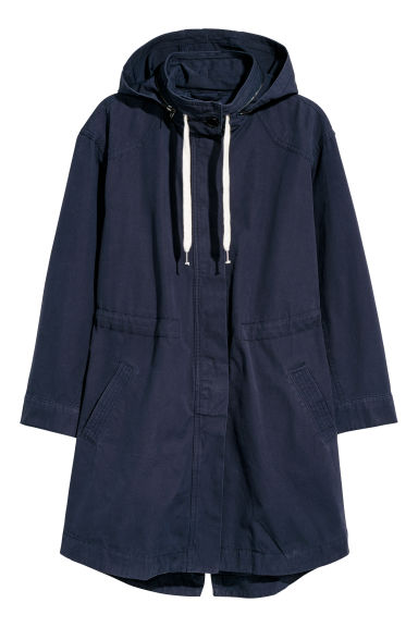 H&M+ Parka in cotone - Blu scuro -  | H&M IT