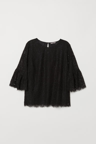 H&M+ Lace blouse - Black - Ladies | H&M CN