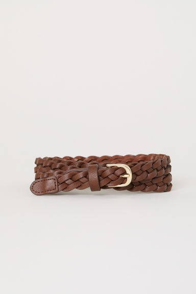 Braided belt - Brown - Ladies | H&M