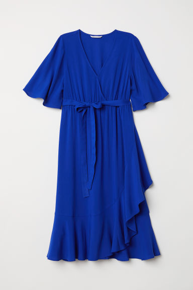MAMA Wrap dress - Cornflower blue - Ladies | H&M CN