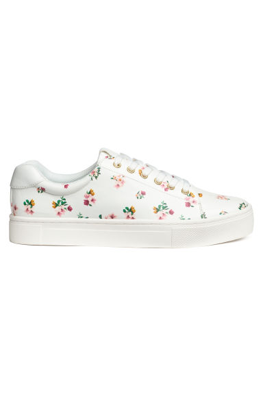 Trainers - White/Floral - Ladies | H&M CN