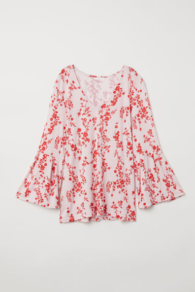 Patterned top - Light pink/Patterned - Ladies | H&M CN