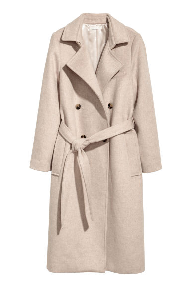 Manteau à double boutonnage - Beige clair -  | H&M BE