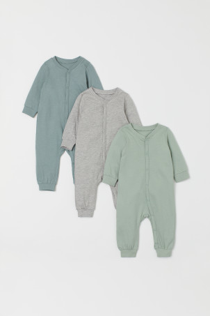 3-pack Cotton Jumpsuits
