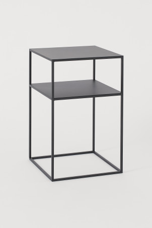 Square metal side table
