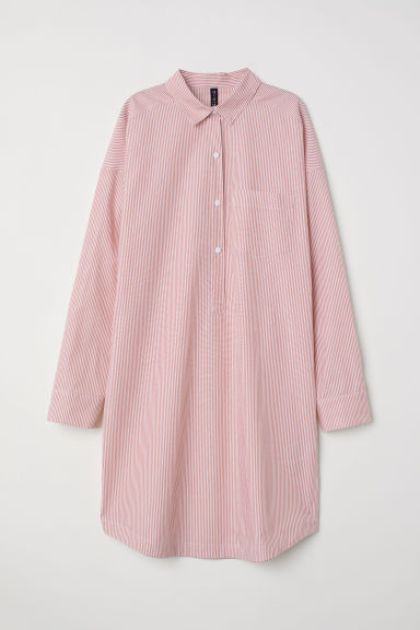 Short shirt dress - Red/Striped - Ladies | H&M CN
