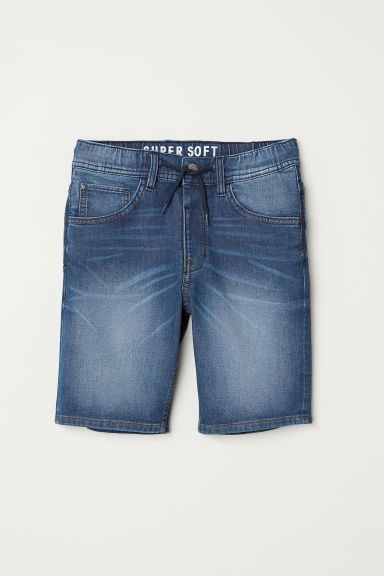 Super Soft denim shorts - Denim blue -  | H&M CN