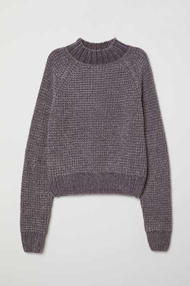 Ribbed jumper - Dark grey -  | H&M CN