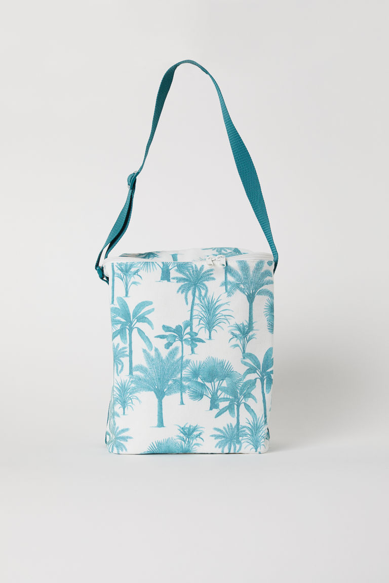 Patterned cool bag - White/Palm trees - Home All | H&M CN