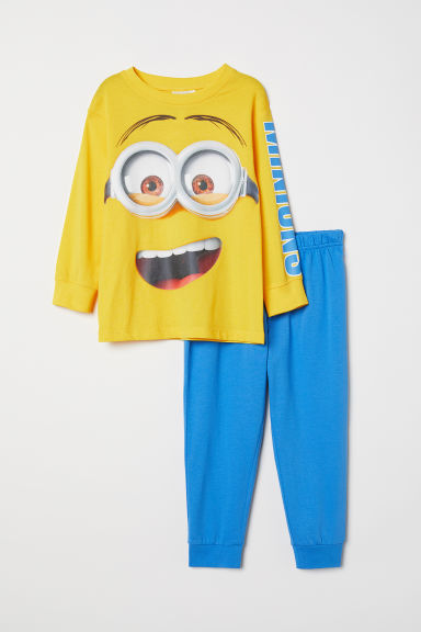 Jersey pyjamas - Yellow/Minions - Kids | H&M