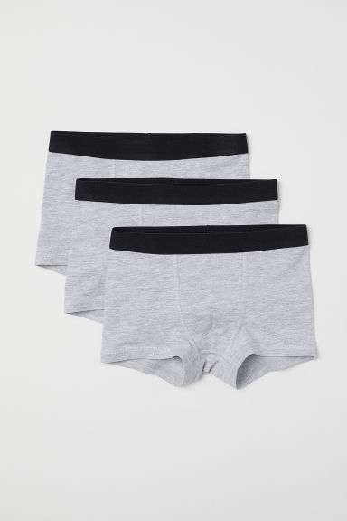 3-pack boxer shorts - Grey marl - Kids | H&M CN