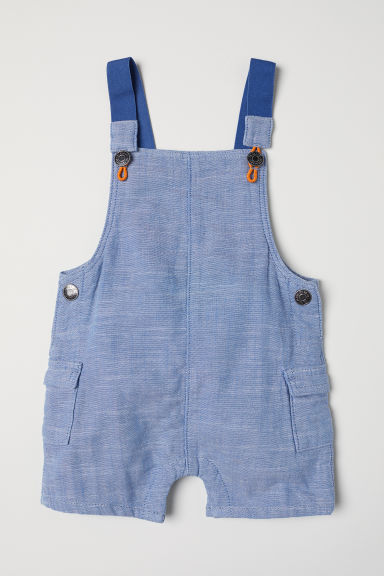 Cotton dungaree shorts - Blue - Kids | H&M CN