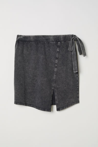Washed-look jersey skirt - Dark grey -  | H&M