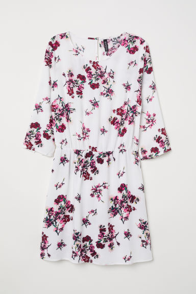 Short dress - White/Floral -  | H&M CN