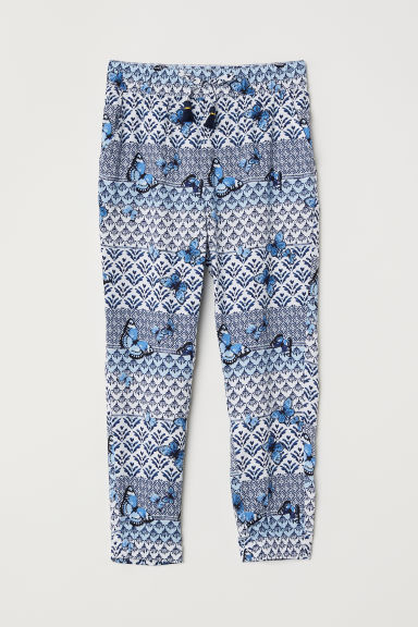 Patterned pull-on trousers - Blue/Patterned -  | H&M