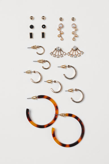 10 pairs earrings - Gold-coloured - Ladies | H&M