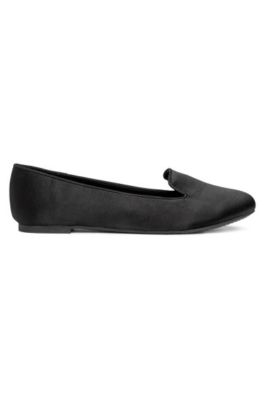 Satin loafers - Black -  | H&M CN