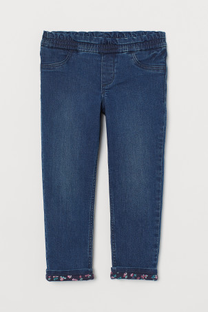 Lined Loose Fit Jeans
