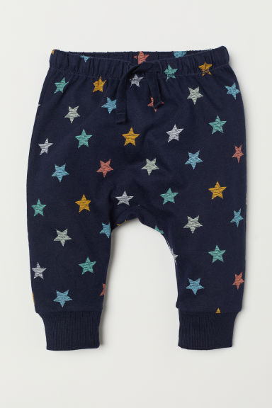 Jersey trousers - Dark blue/Stars -  | H&M