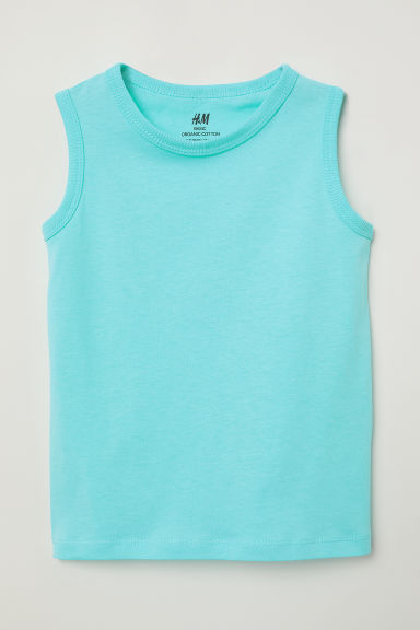 Vest top - Light turquoise - Kids | H&M CN