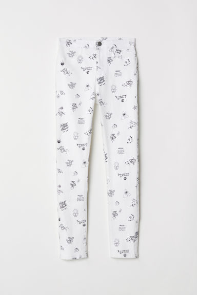Stretch trousers - White/Patterned - Kids | H&M CN