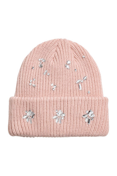 Hat with sparkly stones - Old rose - Ladies | H&M CN
