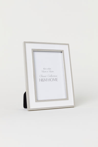 Metal frame - White/Silver-coloured - Home All | H&M CN