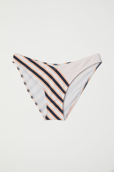 V-shaped bikini bottoms - Apricot/Striped - Ladies | H&M CN