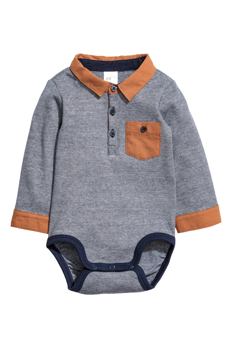 Body with a collar - Blue/Camel - Kids | H&M CN