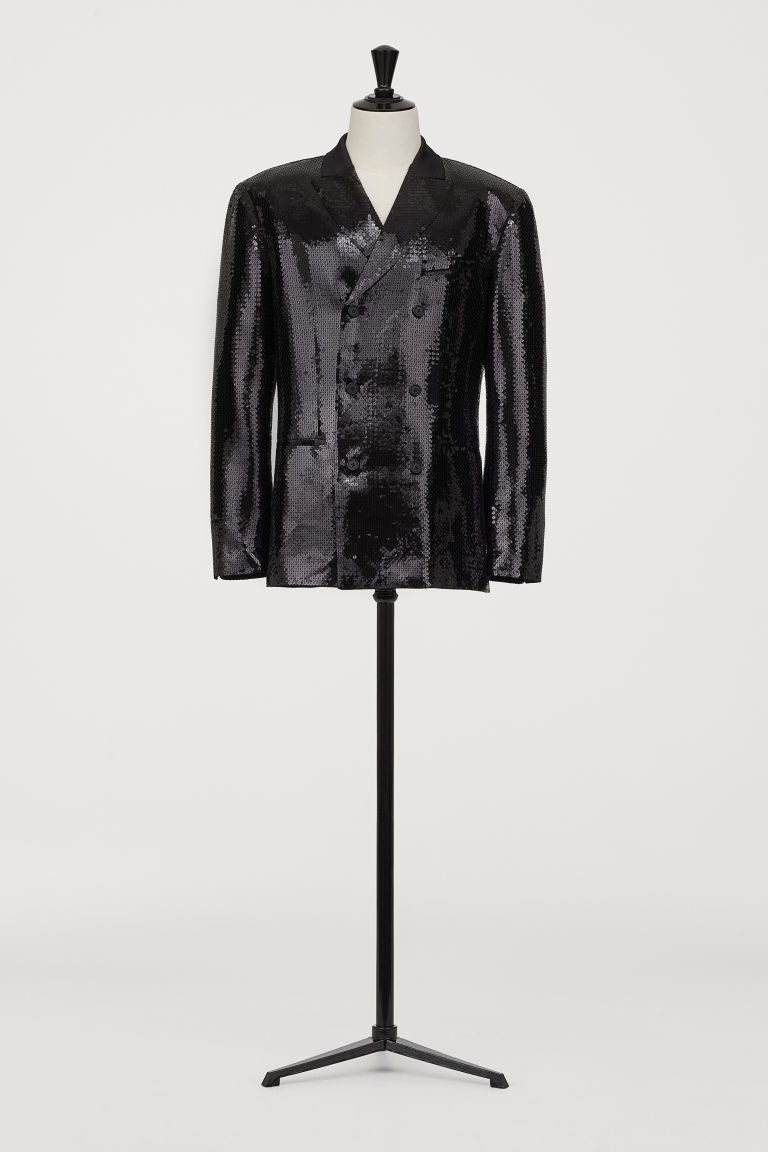 Sequined jacket - Black - Men | H&M