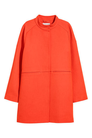 Short wool-blend coat - Bright red -  | H&M CN