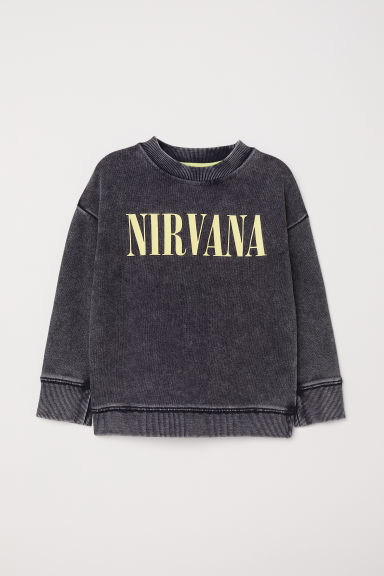 Printed sweatshirt - Dark grey/Nirvana - Kids | H&M CN