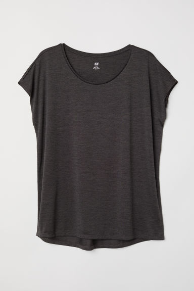H&M+ Sports top - Black marl - Ladies | H&M