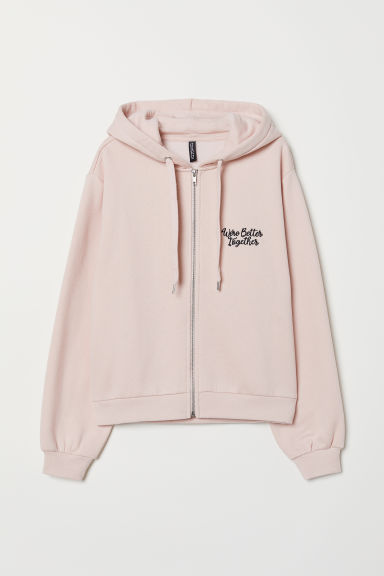 Hooded jacket - Powder pink -  | H&M CN